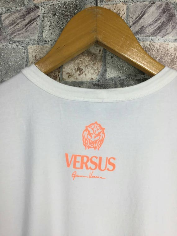 Sport Vintage White Versace Tshirt Italy 90s Tshirt Medium Potrait HipHop Couture M Self Versace Size VERSACE Versus Medusa Versace GIANNI axqw16BYa
