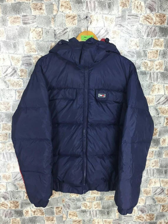 12ae855081228 TOMMY HILFIGER Puffer Jacket Small Vintage 90s Hip Hop Tommy   Etsy