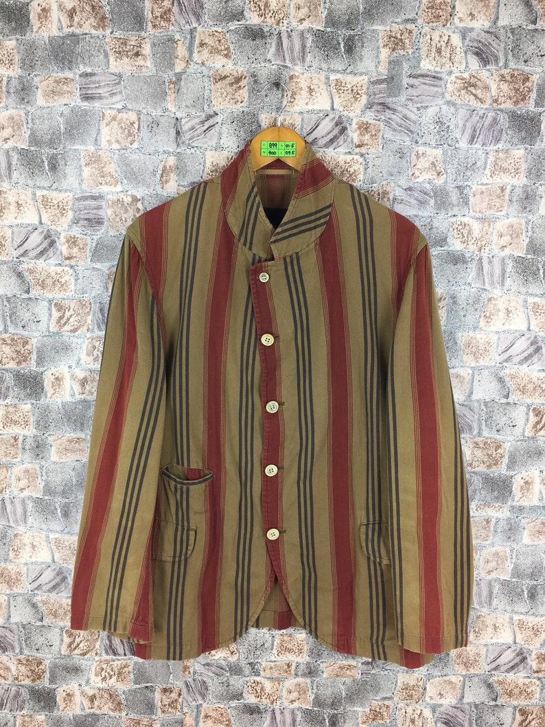 da72a0c74392 COMME DES GARCONS Homme Plus Striped Coat Jacket Cotton Medium