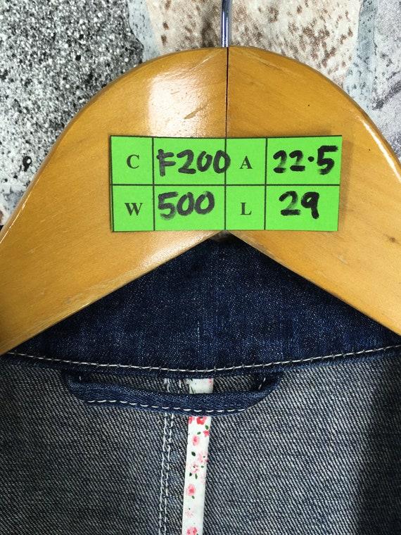 Comme S PAPAS Blue Buttondown Japan Casual De Jeans Denim Heming Coat Des Maniere Vintage Yohji Small Jacket Denim Papas Coat Size 1990's 6qx6Sw1