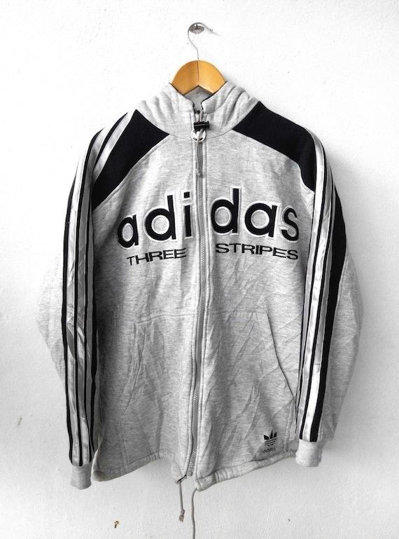 5c9842d1ac429 Vintage 80 s ADIDAS Trefoil Big Logo Run Dmc Sweater Hip   Etsy