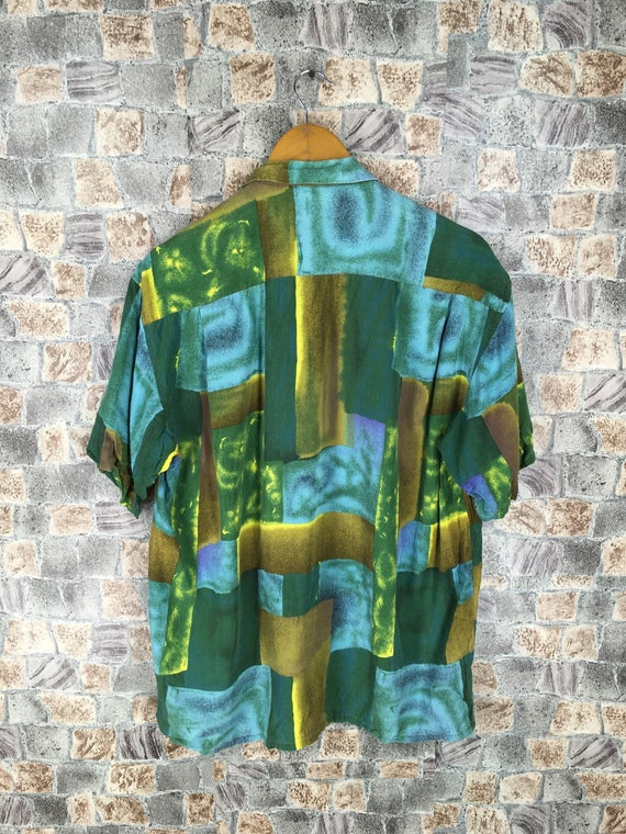 M Medium Vintage Pop Y's AVALINHO Yohji Abstract Vintage Des Novelty Art Silk Baroque Colourful Size Shirt HOMME Comme Shirt qRYwxXUA