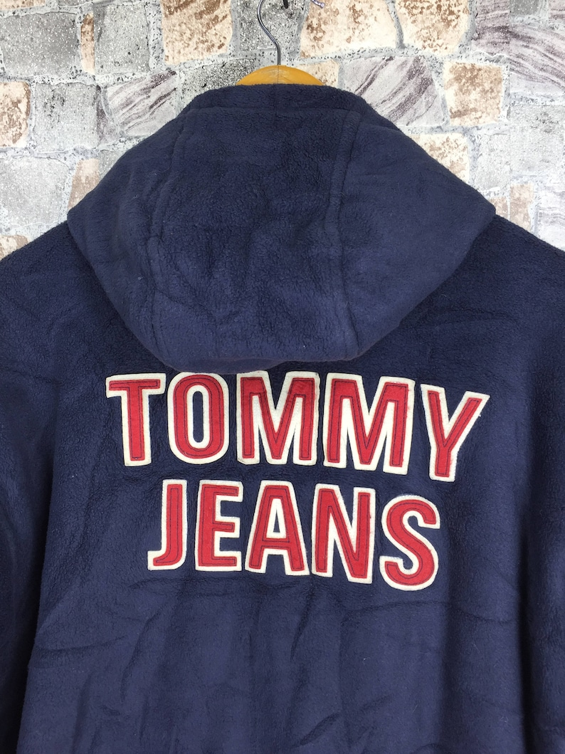 TOMMY HILFIGER Hoodie Jacket Medium Vintage 90s Tommy Jeans Big Logo Tommy Colorblock Parka Hoodie Reversible Jacket Sailing Gear Size M