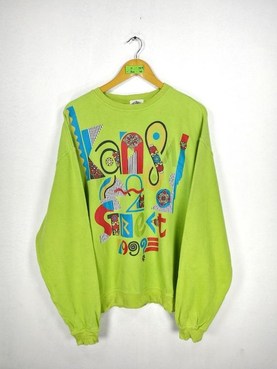 Crewneck Sweatshirt Sweaters KANSAI Street IMPACT Kansai Jumper Subculture Japan Size Designer Miyake M Green Art Yamamoto Medium E7w7q