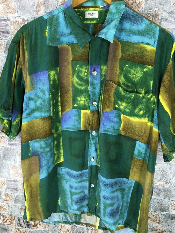 Colourful Comme Pop Vintage Medium Vintage Novelty Des Shirt Silk HOMME Shirt Baroque M AVALINHO Art Abstract Size Yohji Y's rxz7Ywz0q