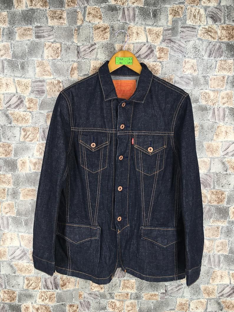 6e6ea441a92 Vintage LEVIS STRAUSS Denim Jeans Jacket Medium Levis Jeans | Etsy