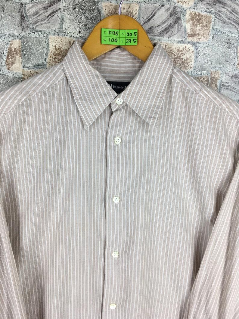 ISSEY MIYAKE Mens Stripes Shirt Large Miyake Design Studio Japan Yohji Yamamoto Issey Buttondown Stripes Im Product Shirt Size L