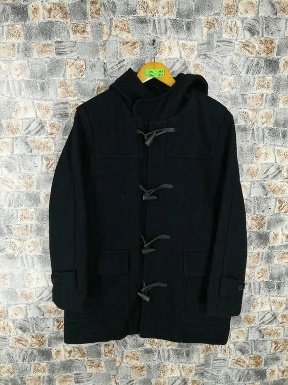 Classic Black Smith Vintage 90's Duffle PAUL Paul Parka Large SMITH Hoodie L Size Jacket London Warmest Jeans Paul Smith Button Jacket UOXXvx1