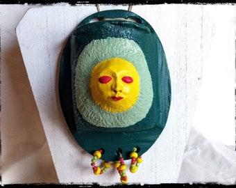 """OOAK """"Sol"""" Clay Wall Pocket Sculpture"""