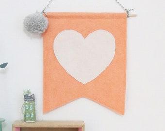 Heart Mini Felt Banner