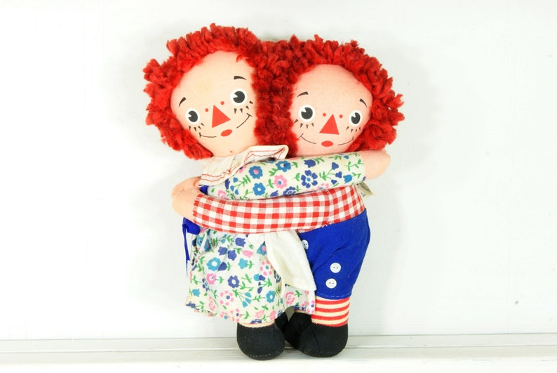 Vintage Knickerbocker Raggedy Ann and Andy Dolls image 0