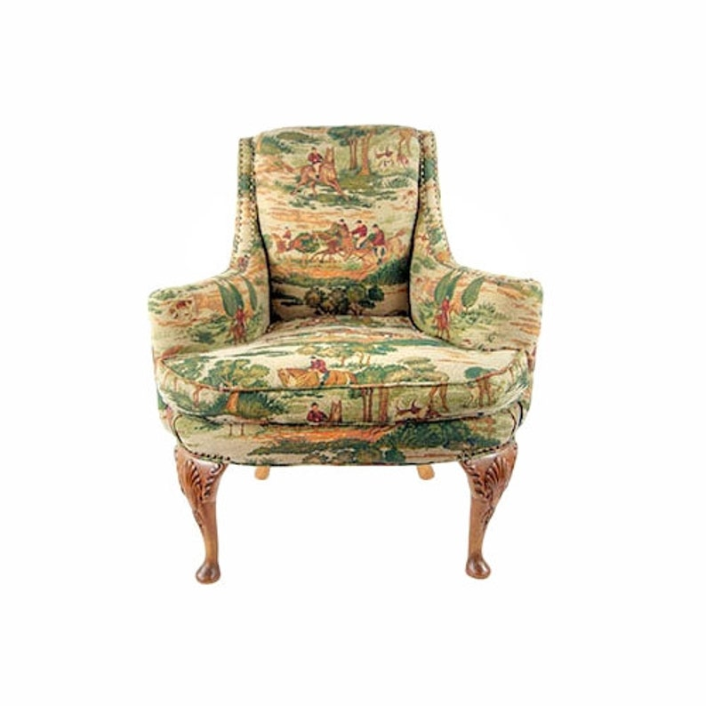 Chair  Queen Anne Arm Chair  Traditional Revival image 0