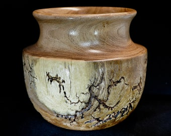 Artistic Mesquite Bowl with Fractal Burning
