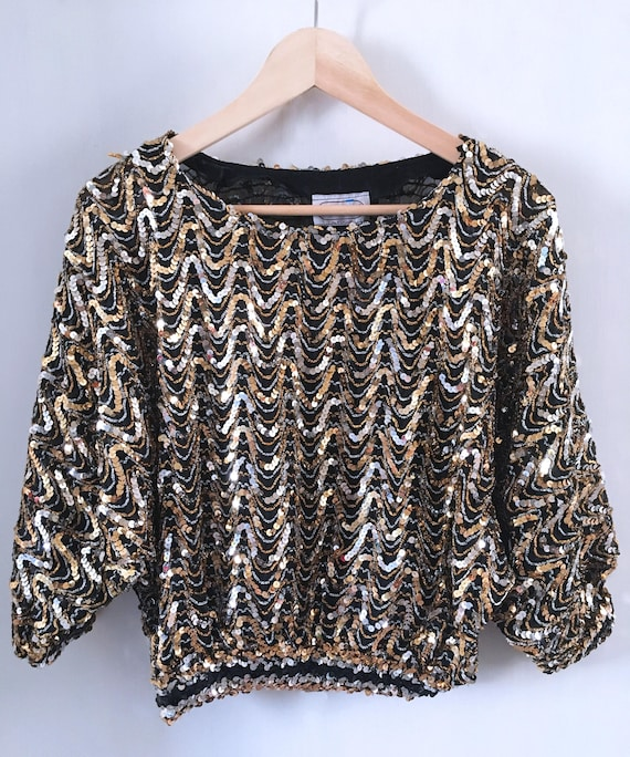 Sequins Dolman Party Shirt