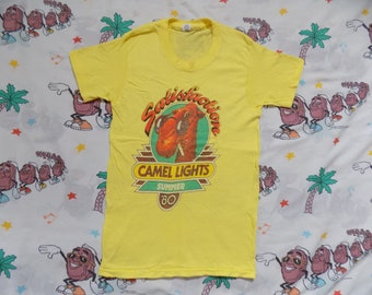 7f23cbbeba Vintage 80's Camel Lights Summer '80 T shirt, size S/XS 1980 cigarettes  promo Dead Stock!