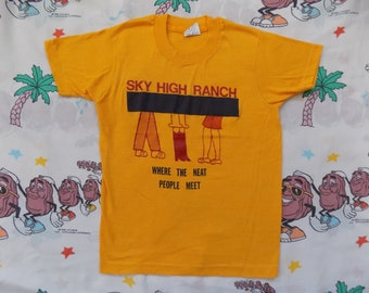 1b40fc7e7020 Vintage 70's Sky High Ranch Kids T shirt, size Youth Medium by Screen Stars  soft and thin