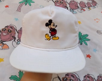 33cdfc87855 Vintage 80 s Mickey Mouse Buckle Back Hat
