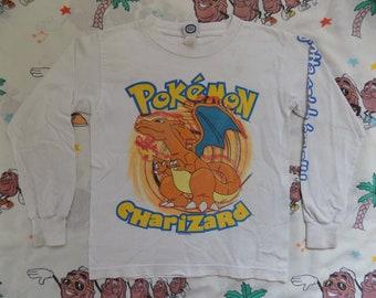 f8104fd2 Vintage 90's Pokemon Charizard Long Sleeve T shirt, size S/XS 1999 Nintendo  Catch 'Em All