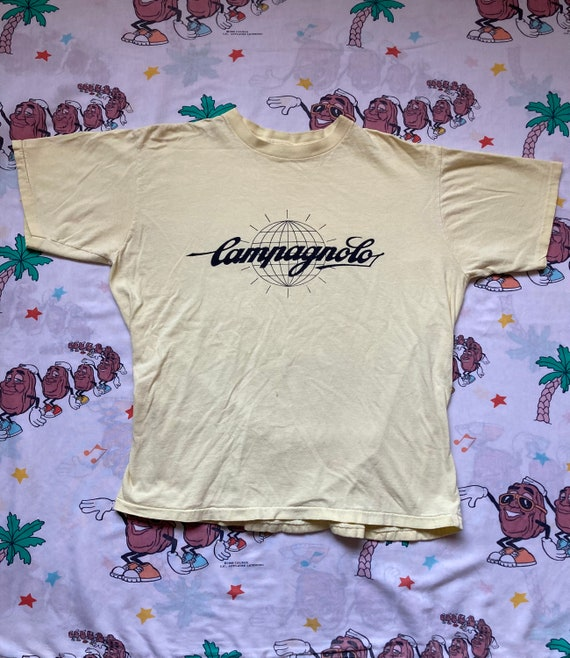 size ML Logo Sponsor Biking Vintage 70\u2019s Campagnolo Cycling T shirt