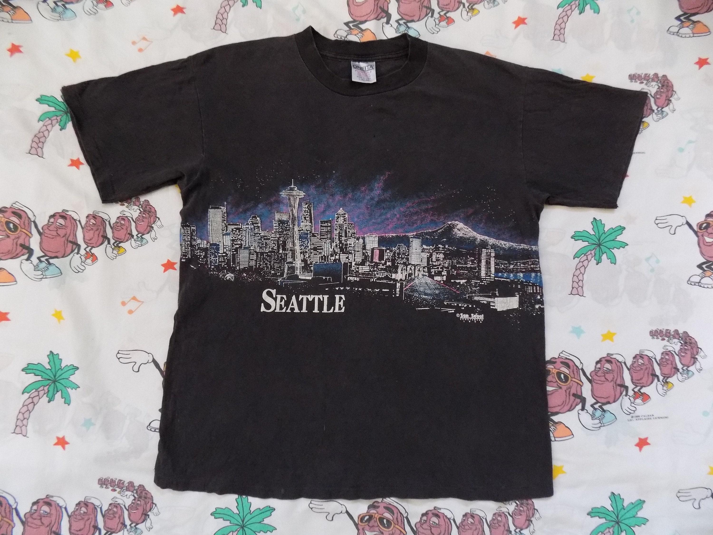 Vintage 90s San Segal Seattle T Shirt Size Large 1990 Etsy