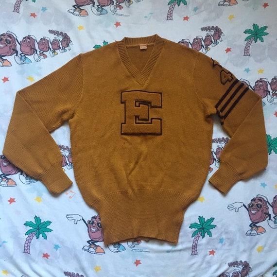 Vintage 40's Nelson Letterman Sweater, size Large