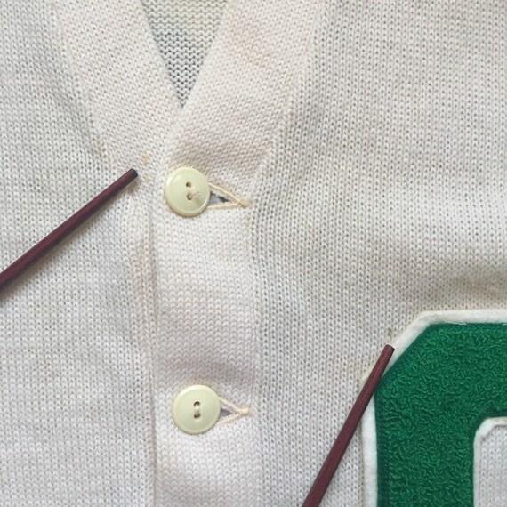 Vintage 50's Letterman Cardigan Sweater, size Sma… - image 2