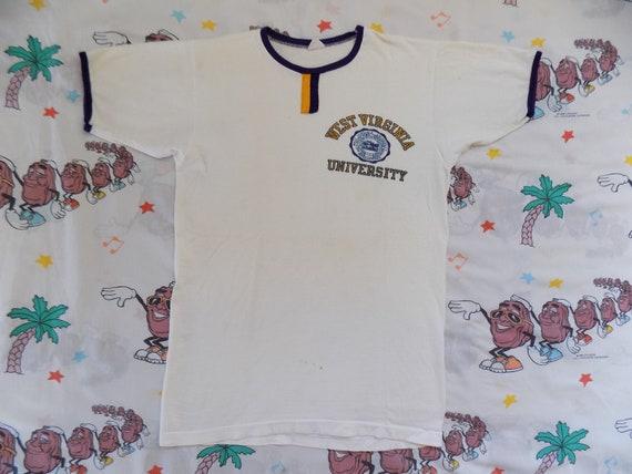Vintage 60's West Virginia University Ringer T shi