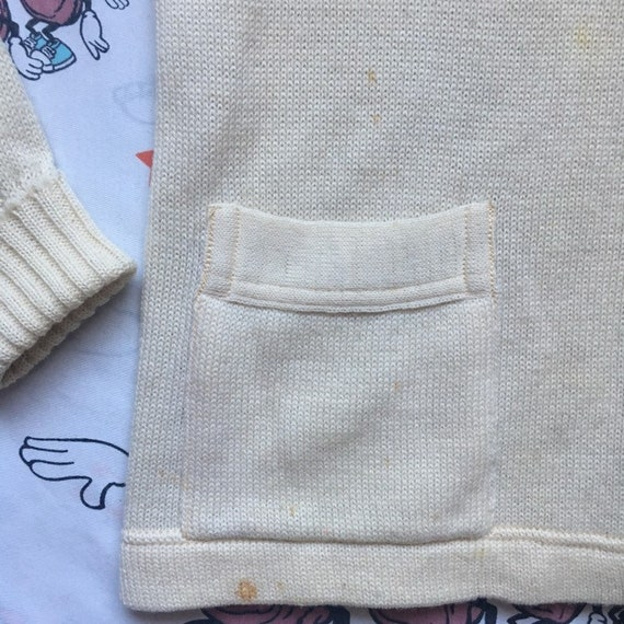 Vintage 50's Letterman Cardigan Sweater, size Sma… - image 5