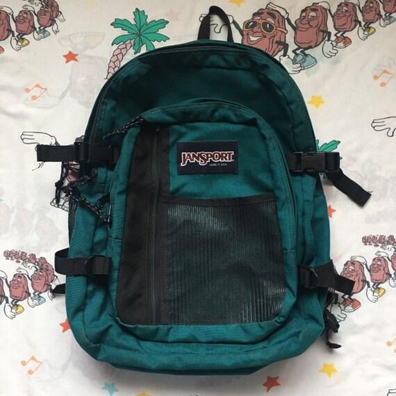 Vintage 90's Jansport Teal Canvas Backpack Daypack