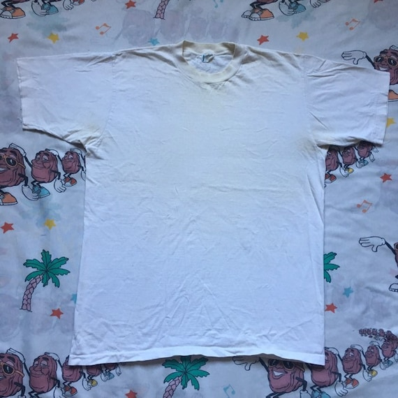 Vintage 60's Blank White Towncraft T shirt, size L