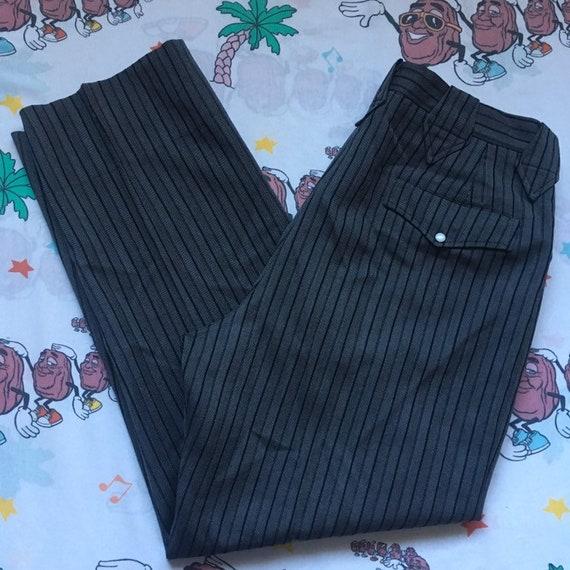 Vintage 50's Allen Western Wear Pin Striped Wester