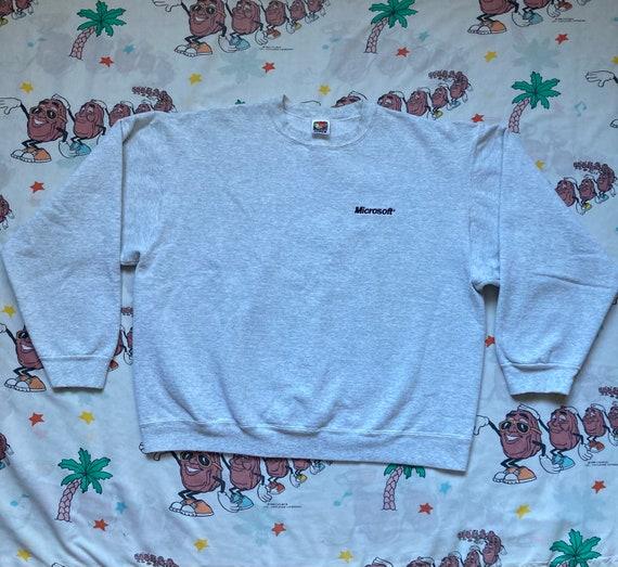Vintage 90's Microsoft Embroidered Logo Sweatshirt