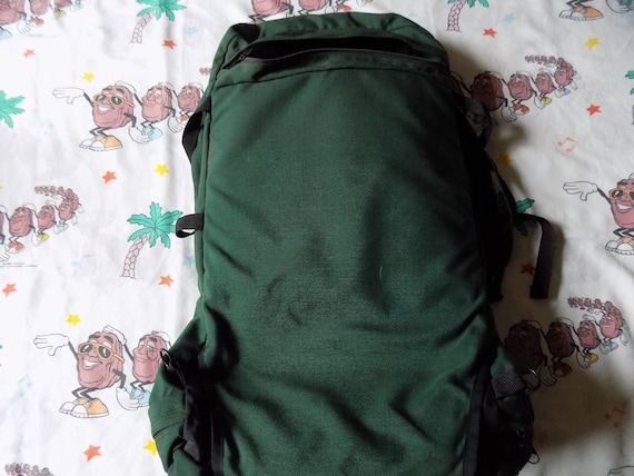luxury good out x fast color Vintage 80's/90's Jansport Forest Green Hiking Camping Travel Backpack USA  made