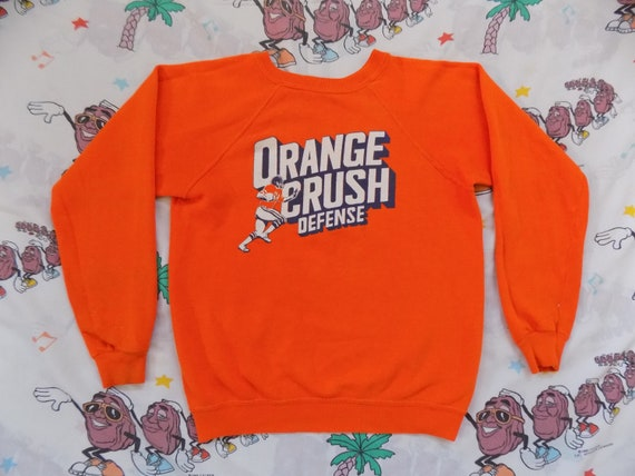 5c5c6813e Vintage 70 s Denver Broncos Orange Crush Defense pullover
