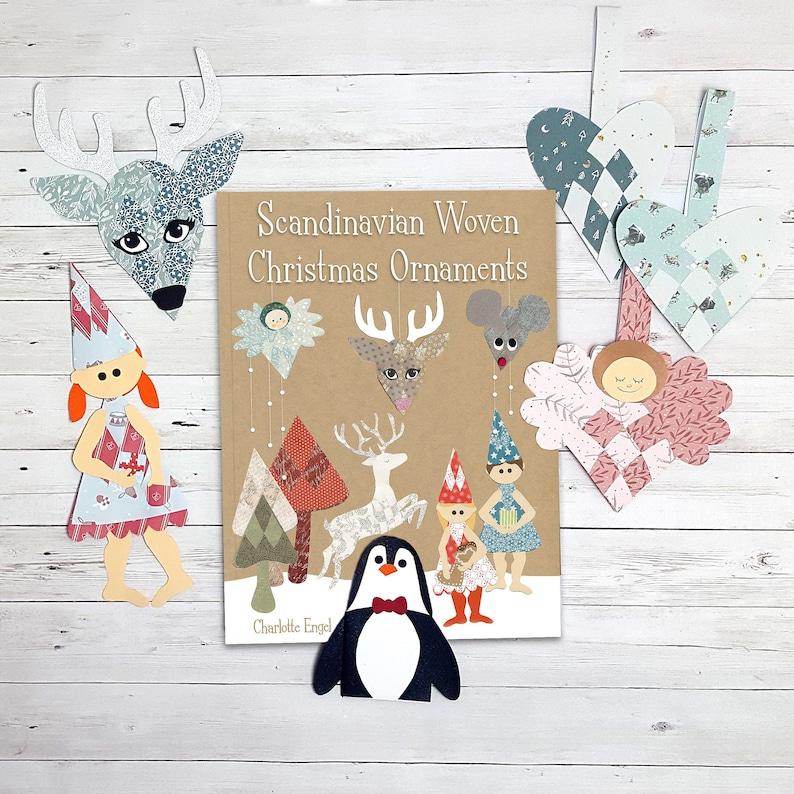 Christmas papercraft pdf: Scandinavian Woven Christmas image 0