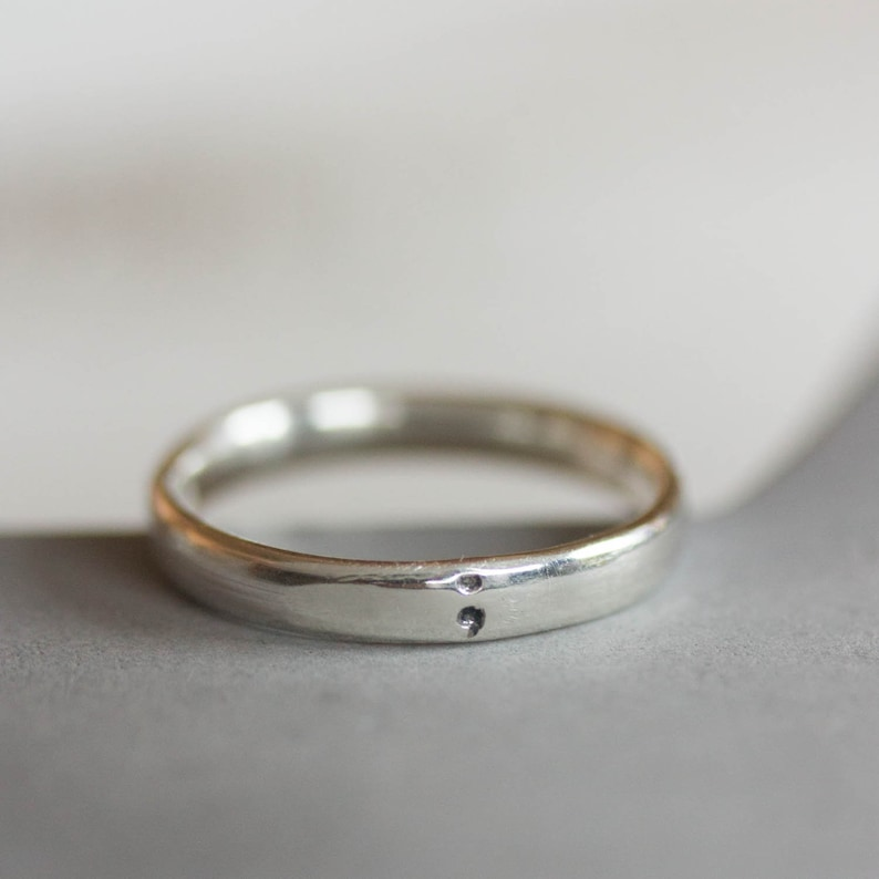 3mm wide Semicolon ring comfortable fit