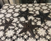 Cast Iron Building Star Architectural Anchor Plate 9 Western Salvage Decor, listing is for one only
