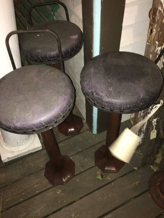 Peachy Vintage Diner Soda Fountain Cast Iron Bar Stool Listing Is For One But I Have Three Approx 31 Tall Alphanode Cool Chair Designs And Ideas Alphanodeonline