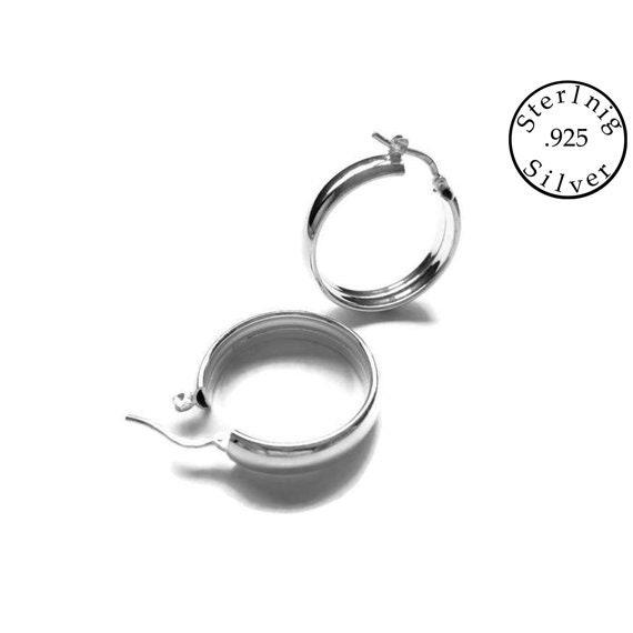 925 Sterling Silver Hoop Earrings