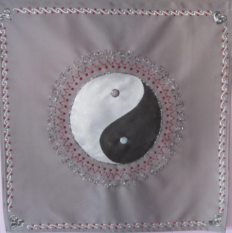 yin yang gem lde wandbehang meditation banner und altartuch etsy. Black Bedroom Furniture Sets. Home Design Ideas