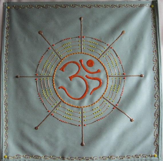 Om Symbol Painting Banner Meditation Wall Hanging And Altar Etsy