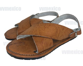661756102f78 MENS LEATHER 2 STRAP mexican sandals with tire sole