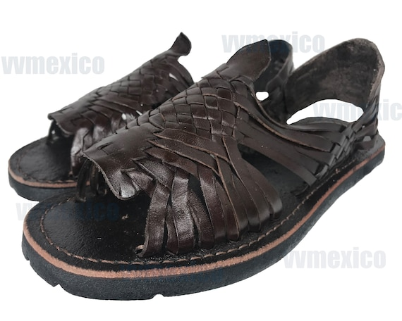 MENS LEATHER HUARACHE Sandals made in