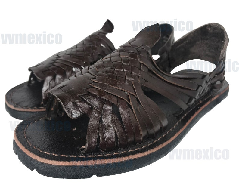 26ab7950e491 MENS LEATHER HUARACHE Sandals made in mexico with tire sole