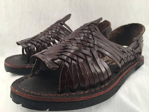 d0b73ae9fdcd WOMENS LEATHER HUARACHE Sandals vintage style made in mexico