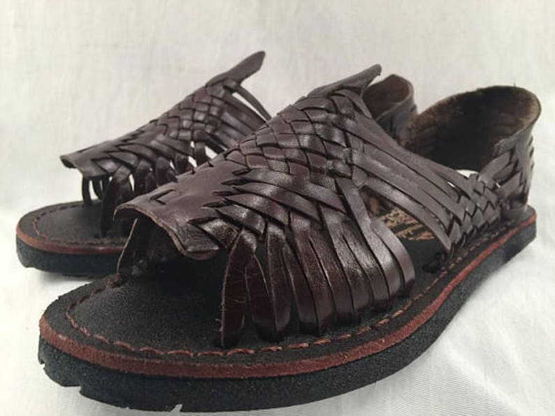 94898a3008f5 WOMENS LEATHER HUARACHE Sandals vintage style made in mexico