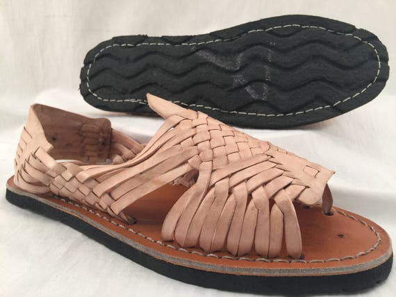 bd1507ac3774 MENS LEATHER HUARACHE Sandals vintage style made in mexico