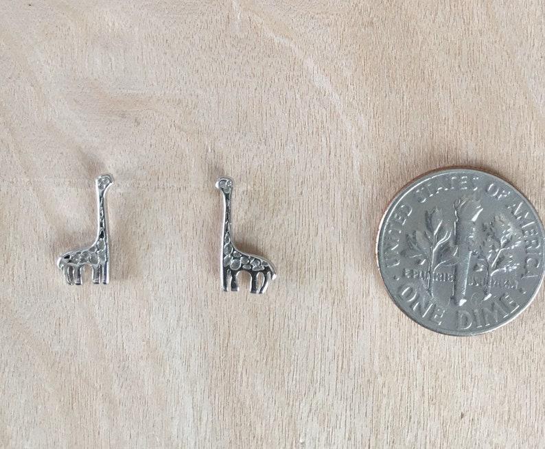 Dainty Giraffe Stud Sterling Silver Earrings