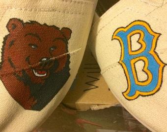Custom UCLA college / school themed Toms shoes