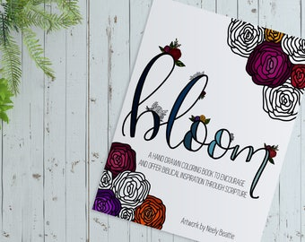 Bloom Hand Drawn Coloring Book